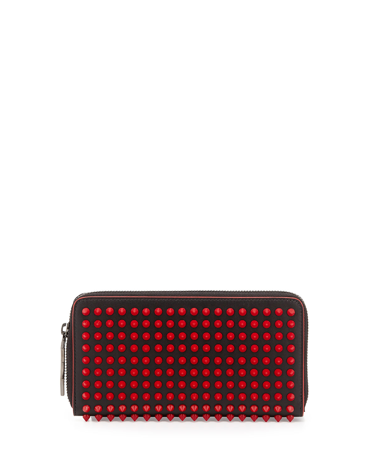 b98d7c377bc Panettone Spike Stud Continental Wallet, Black/Red