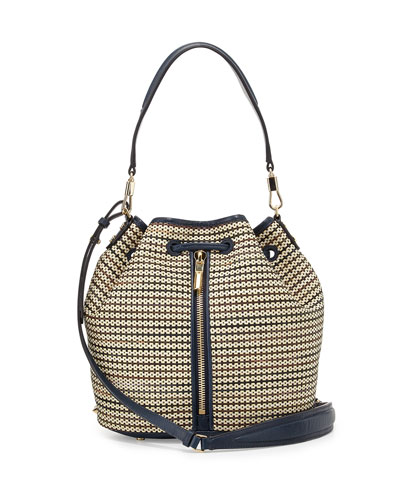 Cynnie Baja Weave Bucket Bag, Multicolor
