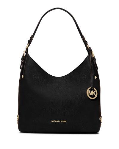 Bedford Large Belted Shoulder Bag, Black
