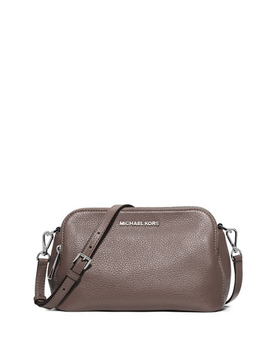 Bedford Medium Double-Zip Messenger Bag, Cinder