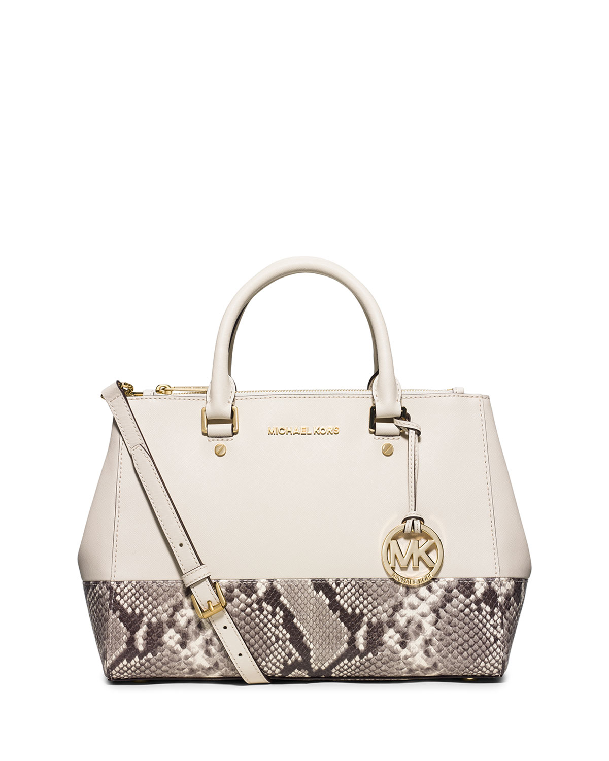 a752daa93763 MICHAEL Michael Kors Sutton Medium Satchel Bag, Ecru/Natural ...