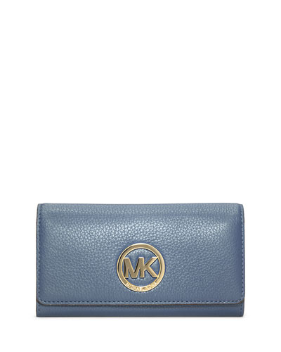 Fulton Carryall Flap Wallet, Cornflower