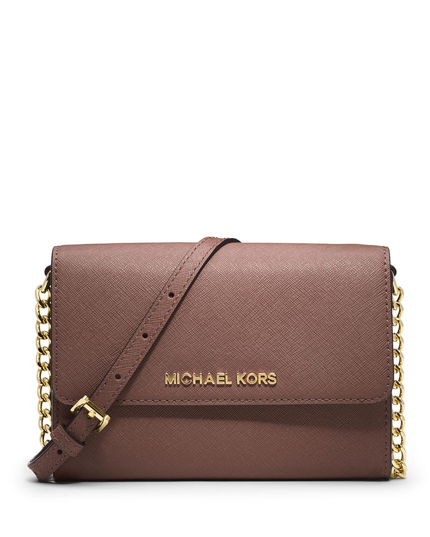 10b9e34f02b MICHAEL Michael KorsJet Set Travel Crossbody Phone Case Wallet, Dusty Rose