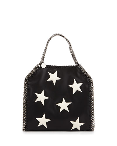 Falabella Mini Star Shoulder Bag, Black