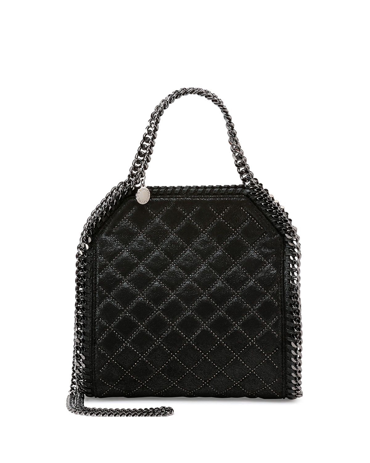 5172ed9280 Stella McCartney Falabella Mini Quilted Studs Tote Bag, Black ...