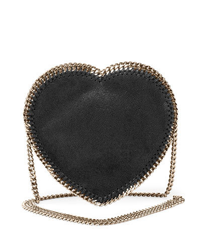 Falabella Heart Crossbody Bag, Black