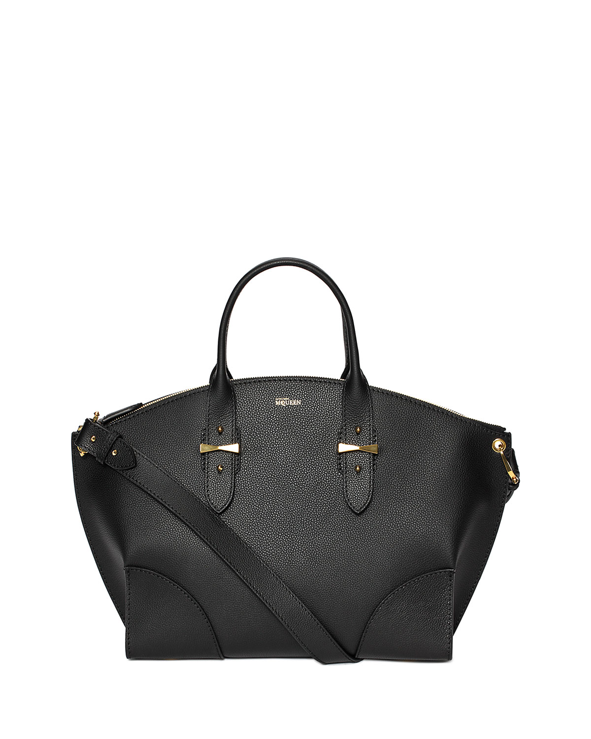 Legend Leather Satchel Bag Black