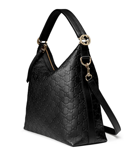22f9a5437e Miss Gg Small Guccissima Leather Hobo Bag Black | Stanford Center ...