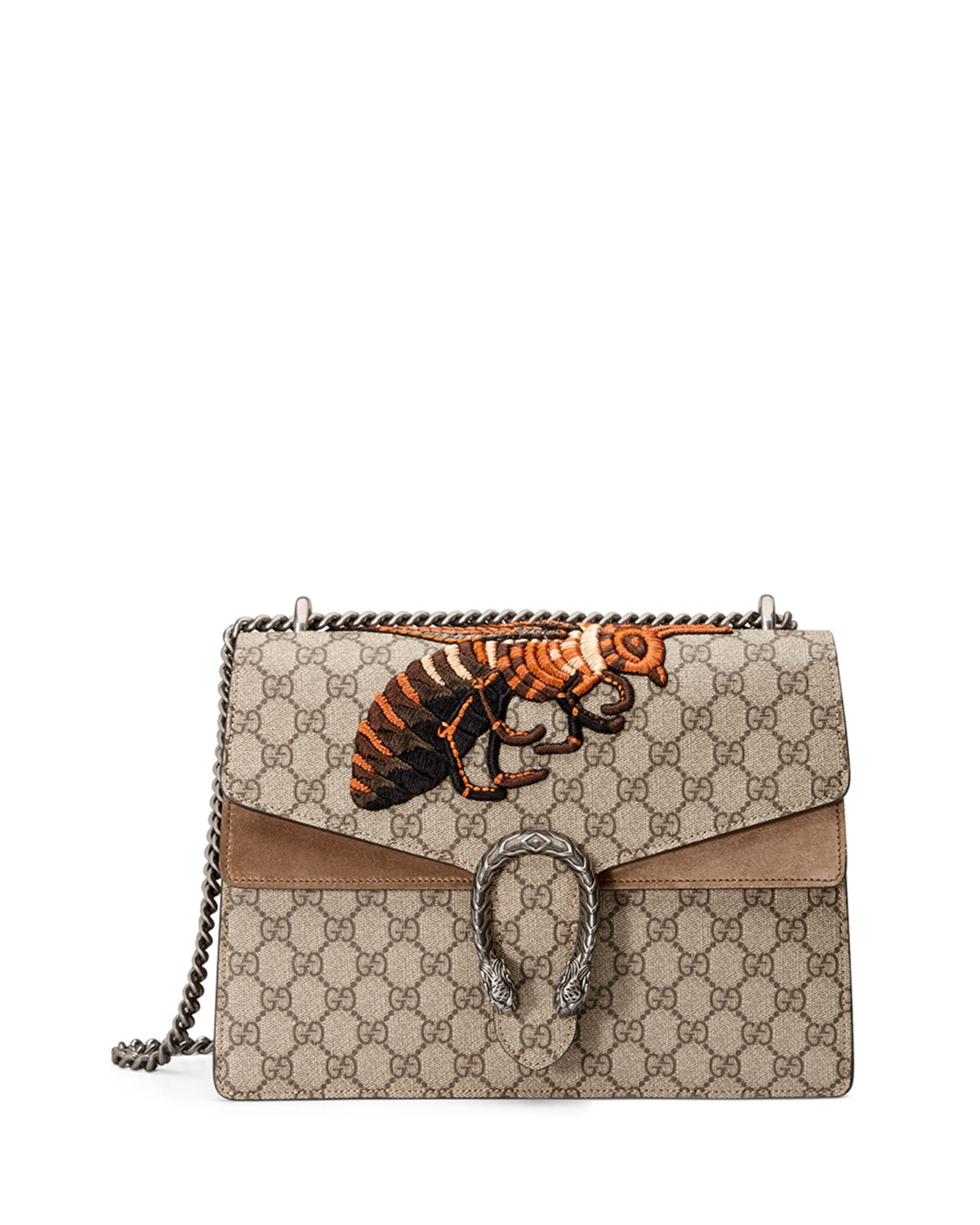 3129c173c10 Gucci Dionysus GG Supreme Canvas Embroidered Queen Bee Shoulder Bag ...