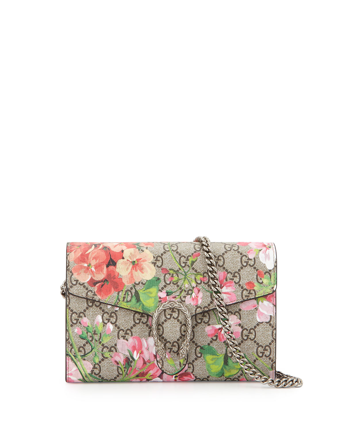 a6f46b1b75c9 Gucci GG Blooms Dionysus Wallet on a Chain