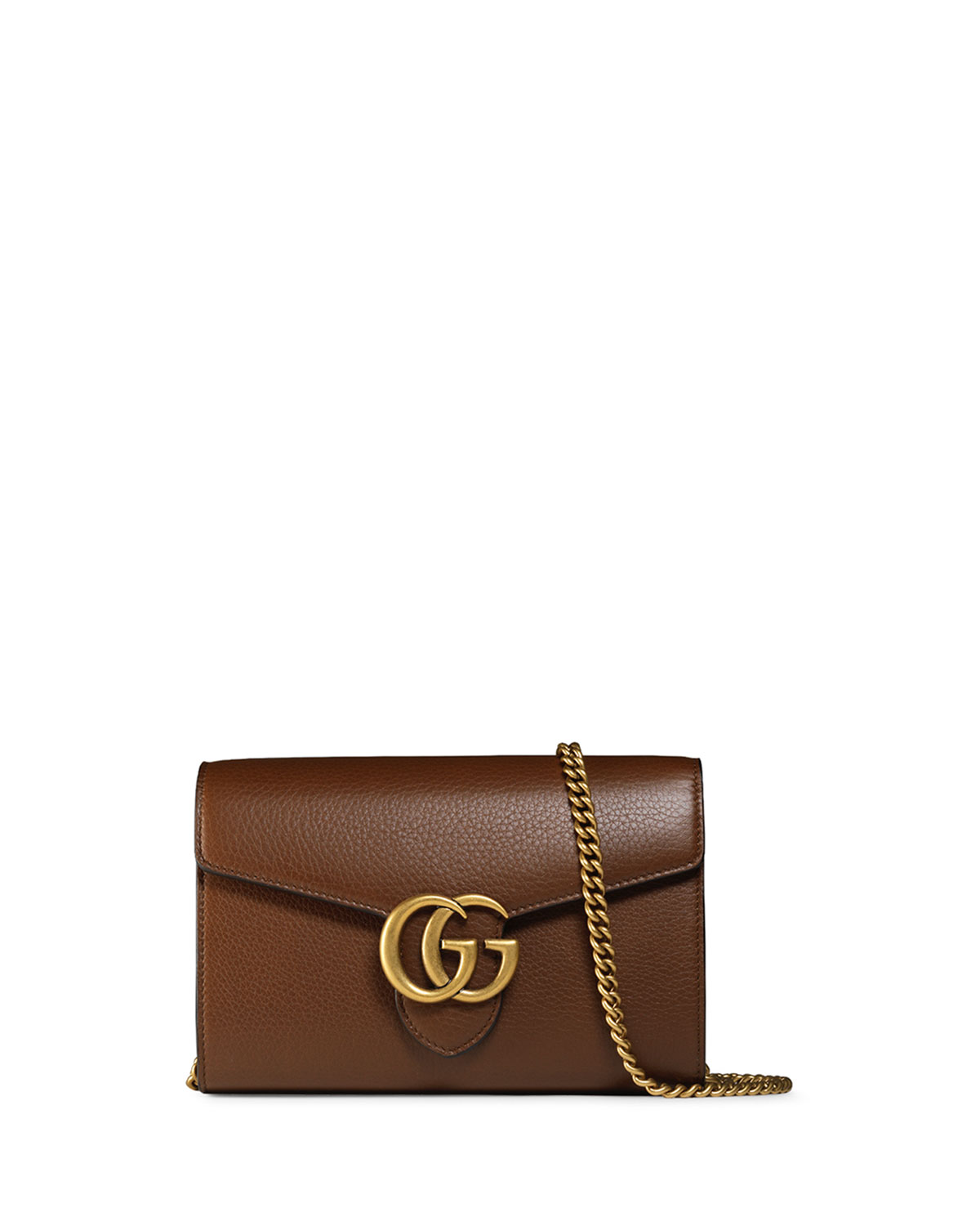 0de4686a30b Gucci Interlocking GG Marmont Leather Wallet-on-Chain