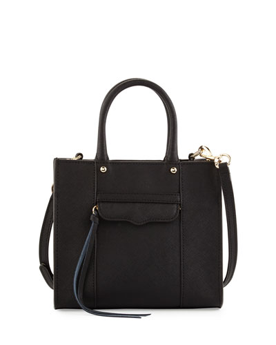 MAB Saffiano Mini Tote Bag, Black