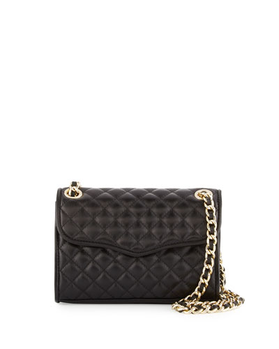 Quilted Affair Mini Shoulder Bag, Black