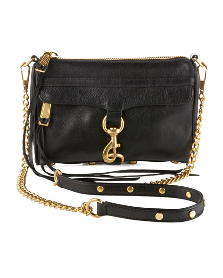 Rebecca Minkoff Mini MAC Crossbody Bag, Black