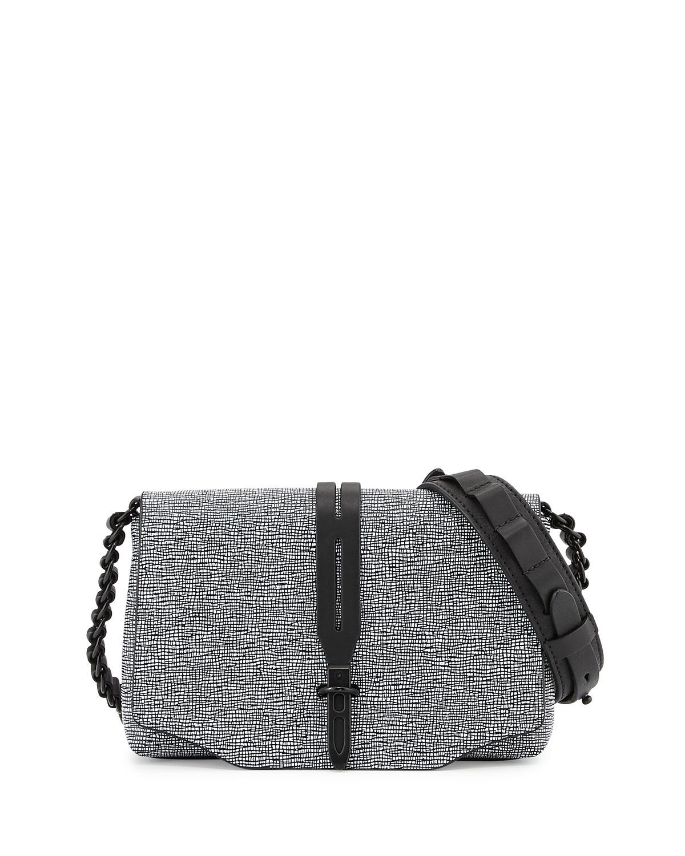 bb28ed69c2d34 Rag & Bone Enfield Mini Leather Crossbody Bag, Black/White   Neiman ...