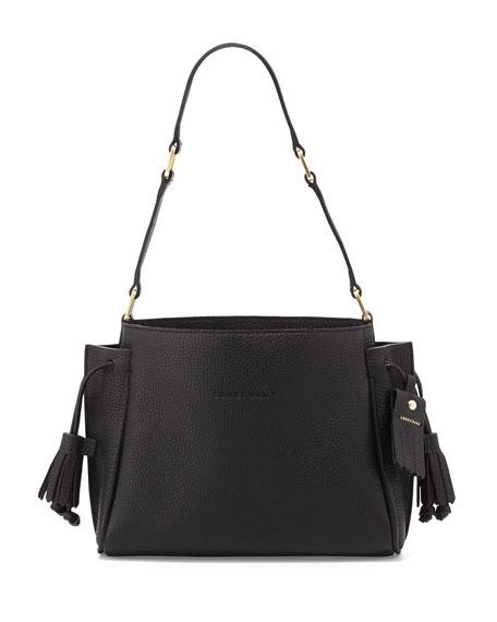 Penelope Small Leather Shoulder Bag Black