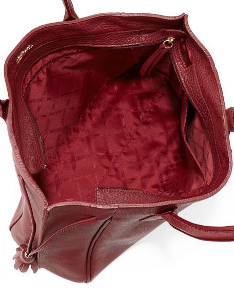 4da9dd7953c Longchamp Penelope Leather Shoulder Bag, Opera on PopScreen