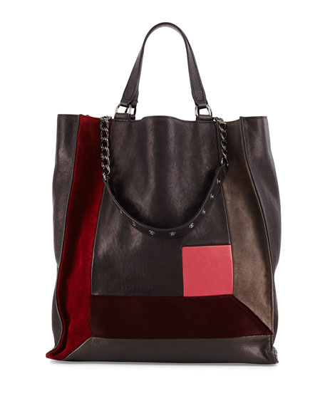 Longchamp Art Walk Mixed Media Tote Bag, Opera