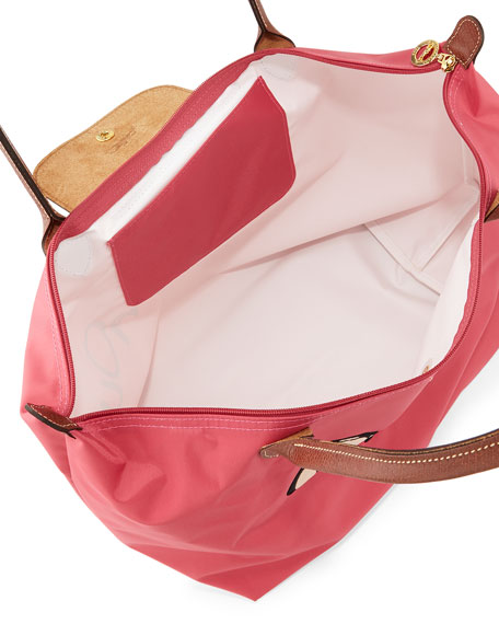 longchamp le pliage miaou large tote bag malabar pink. Black Bedroom Furniture Sets. Home Design Ideas