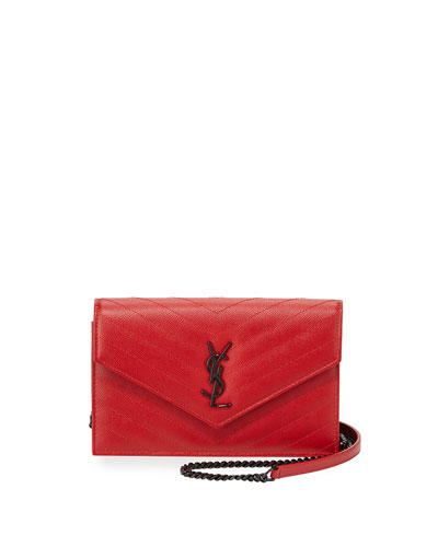 Monogramme Medium Matelasse Shoulder Bag, Red