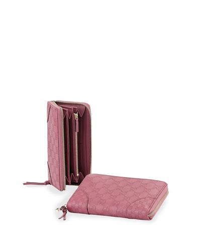 Bree Guccissima Leather Zip Around Wallet
