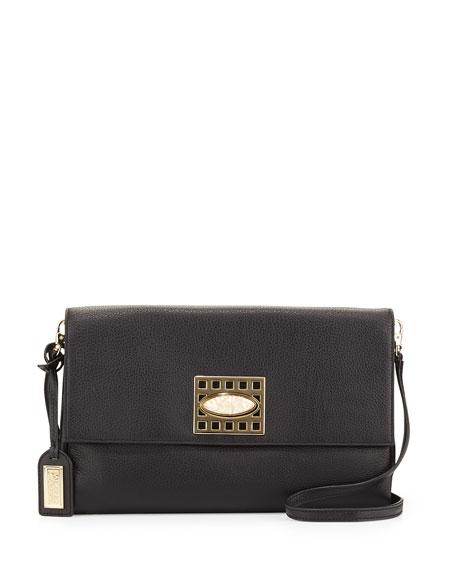 Badgley Mischka Precious Soft Pebbled Leather Clutch Bag,