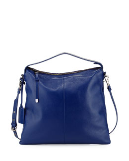 Claudia Leather Hobo Bag, Ink