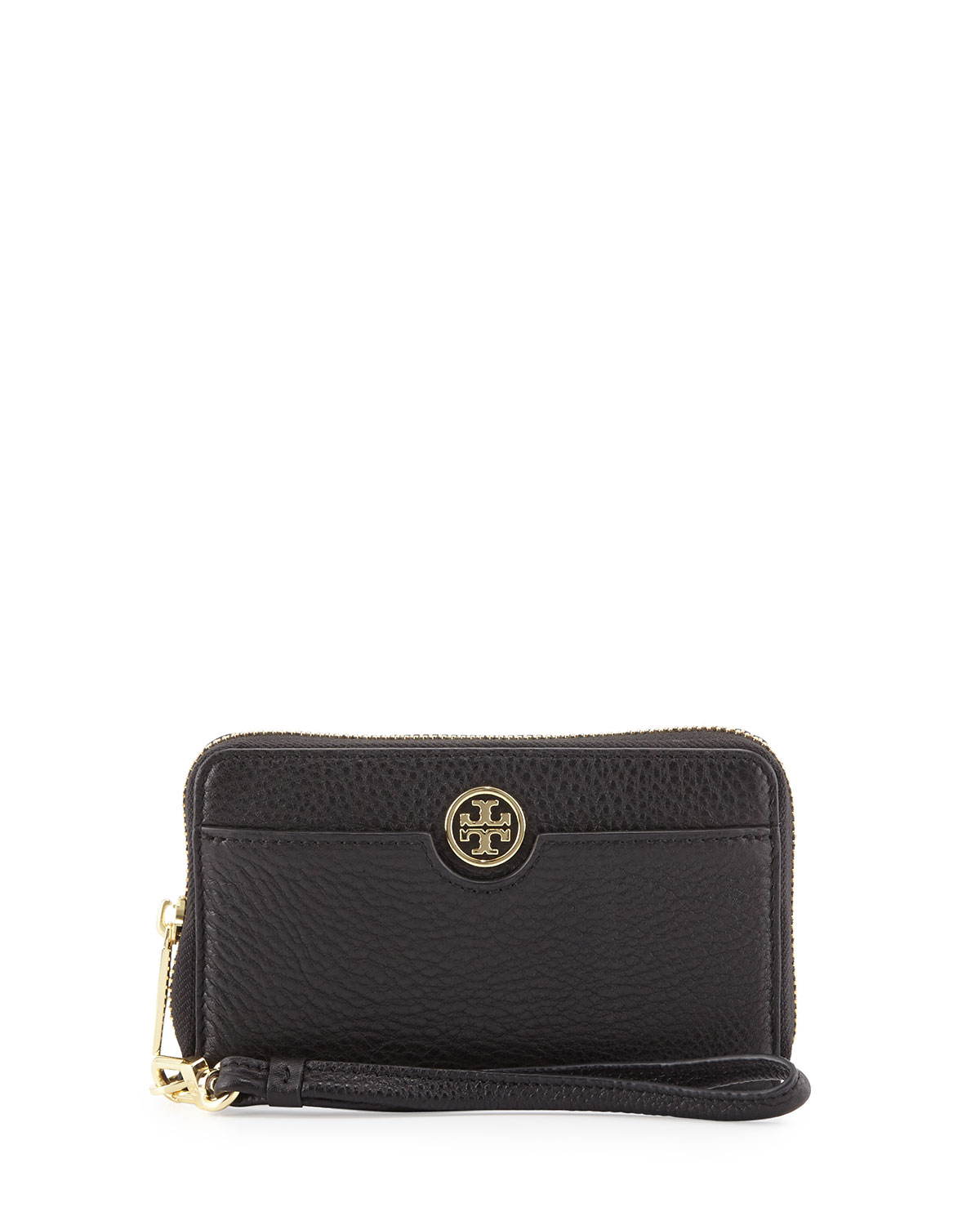 bbc197867879 Tory Burch Robinson Pebbled Leather Smartphone Wristlet Wallet ...