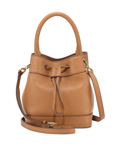 Robinson Mini Pebbled Bucket Bag, Tiger