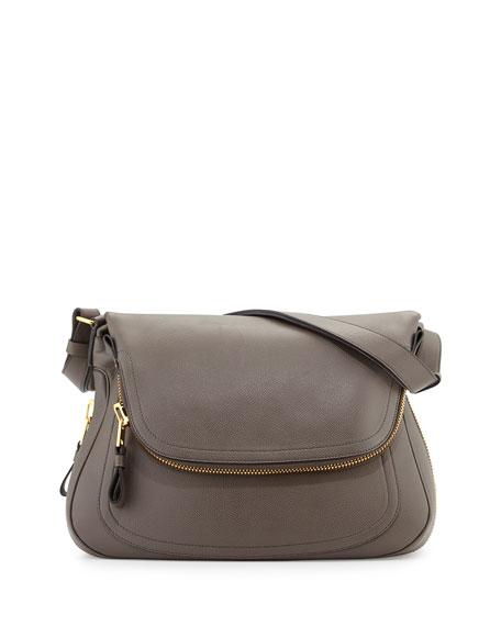 Jennifer Medium Shoulder Bag, Graphite