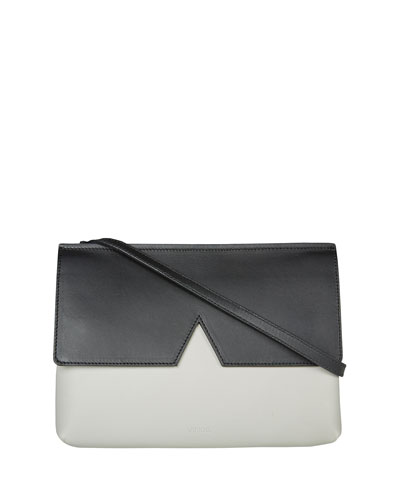 Signature V Colorblock Baby Bag, Pearl/Black