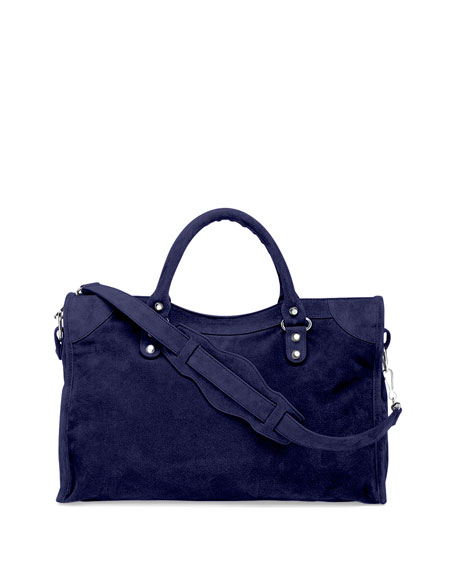 Balenciaga Suede Bag Blue
