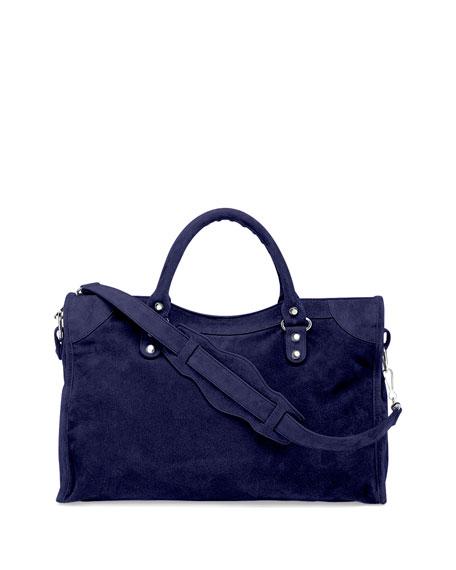Balenciaga Suede Bag Blue