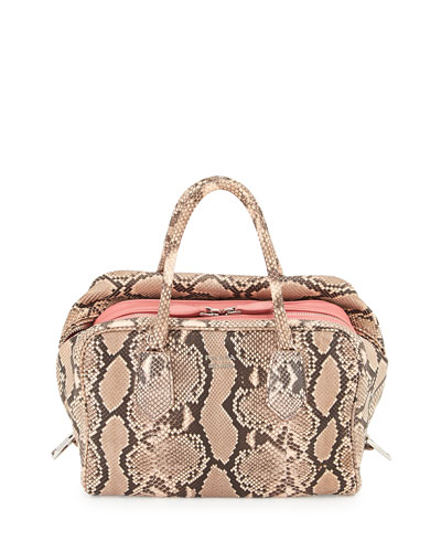 Medium Python Inside Bag, Light Pink