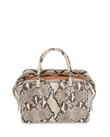 replica of prada handbags - Prada Medium Python Inside Bag, Stone/Caramel (Roccia+Caramel)