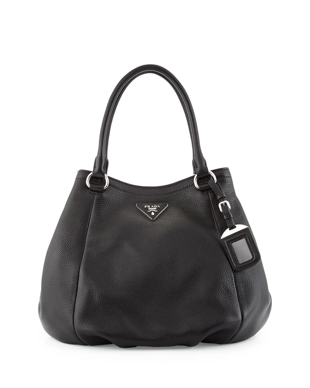 d0534ed261f8 Prada Vitello Daino Small Satchel Bag, Black (Nero) | Neiman Marcus