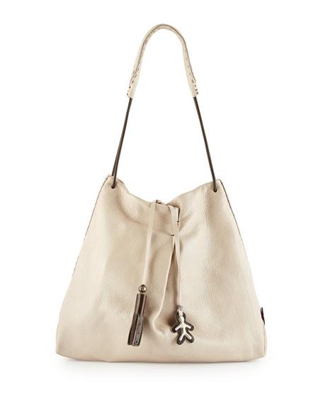 Henry Beguelin Cervo Soft Leather Shoulder Tote Bag, Cream