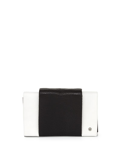 Wallet-On-Chain Shoulder Bag, White/Black