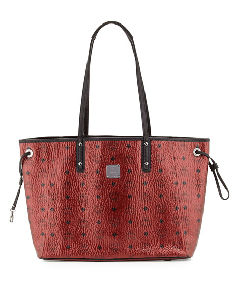 MCM Shopper Project Visetos Reversible Tote Bag, Metallic