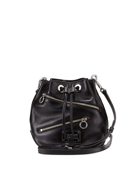 b7171f033d348 MARC by Marc Jacobs New Too Hot to Handle Small Zip Bucket Bag, Black |  Neiman Marcus