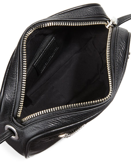 Sally Crossbody Bag w/Chain Detail, Black