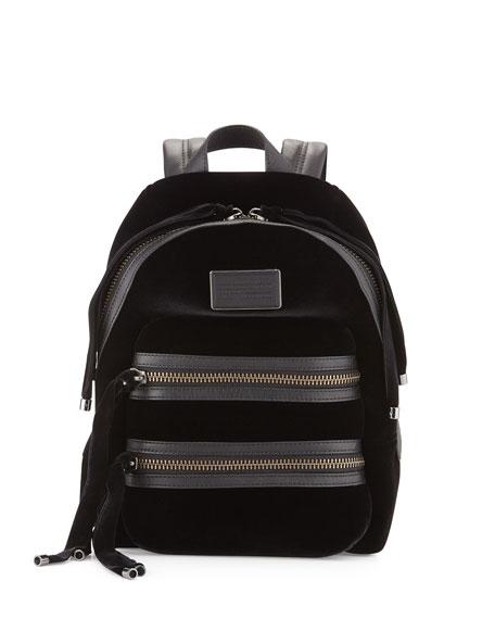 MARC by Marc Jacobs Domo Biker Velvet Backpack, Black