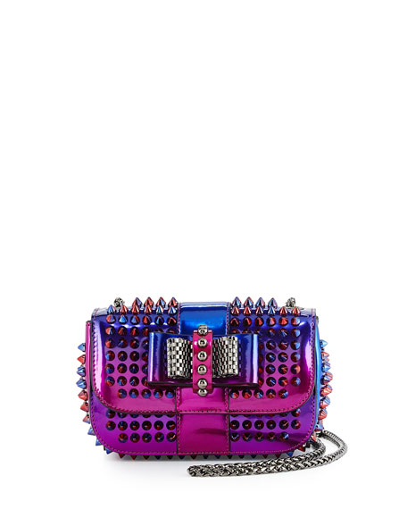 Christian Louboutin Sweet Charity Scarabe Spike Mini Bag, Rose/Red