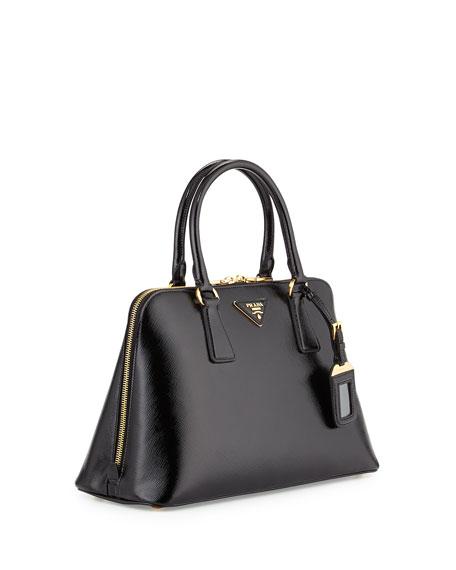e5e22c2488bd Prada Saffiano Double-Handle Small Trapezoid Tote Bag, Black (Nero)