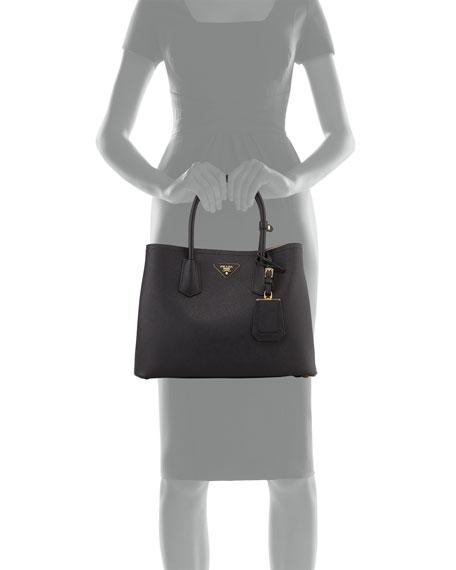 Saffiano East-West Medium Tote Bag, Black (Nero)