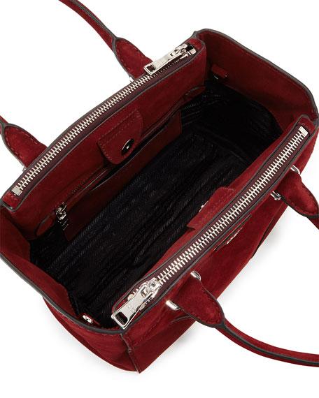 prada red suede purse