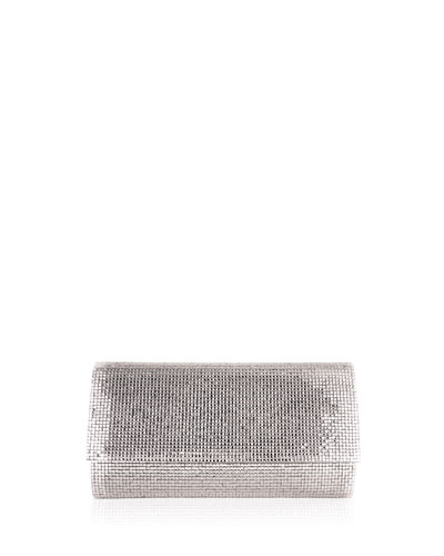 Manhattan Crystal Clutch Bag, Silver