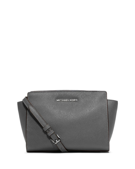 Selma Medium Messenger Bag, Steel Gray