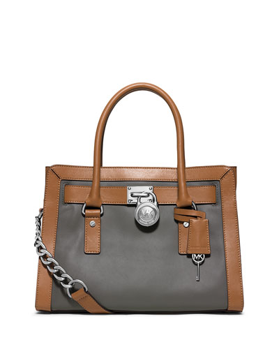 Hamilton Frame Out Satchel Bag, Steel Gray/Acorn