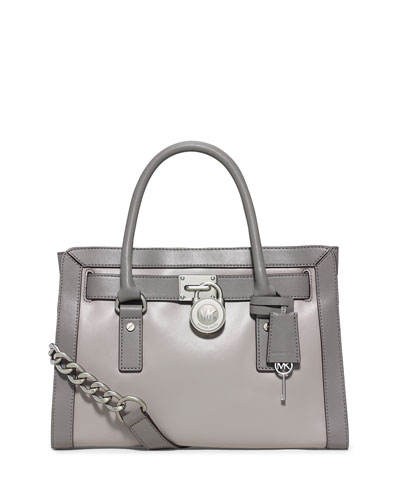 Hamilton Frame Out Satchel Bag, Pearl Gray/Steel